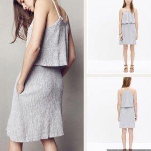 MADEWELL | Dreamdrift Overlay Striped Dress Gray